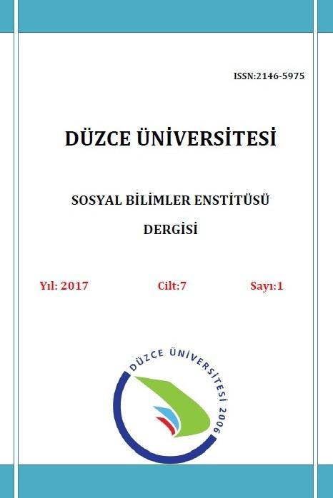 Düzce Üniversitesi Sosyal Bilimler Enstitüsü Dergisi